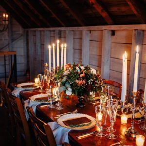 Kat & Dave's Winter Barn Wedding