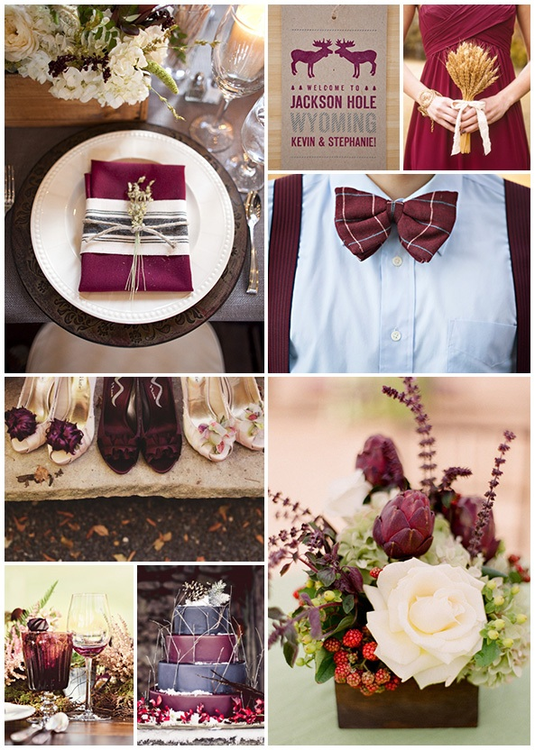 Color Crush Burgundy Maine Barn Wedding Venue