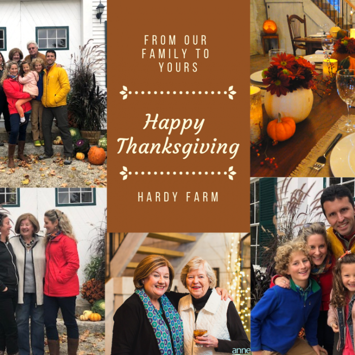 Happy Thanksgiving from Hardy Farm