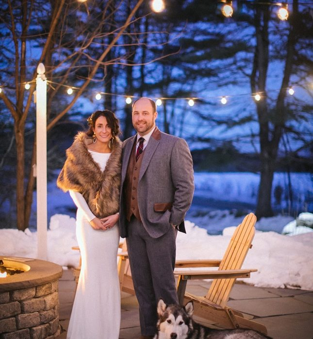 An Intimate Maine Winter Wedding
